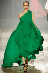 A masterpiece by Elbaz, dramatic and feminine masterpiece for Lanvin's Spring 2008 collection