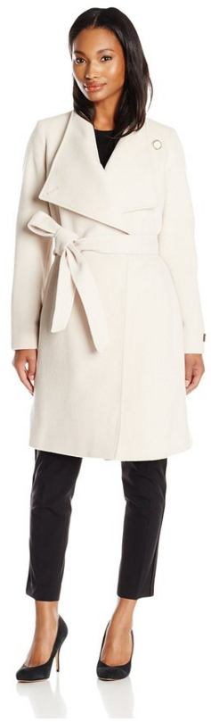 Anne Klein Women's Wool Cashmere Wrap Coat with Belt-Fall Winter 2015 Trends - Christmas Party Fashion- The Want List- Fashion Needs Jesus