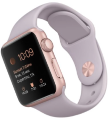 Apple Watch Sport 38mm Rose Gold Aluminum Case with Lavender Sport Band Fall winter Christmas 2015 Gift NYC-The Want List-Fashion Needs Jesus