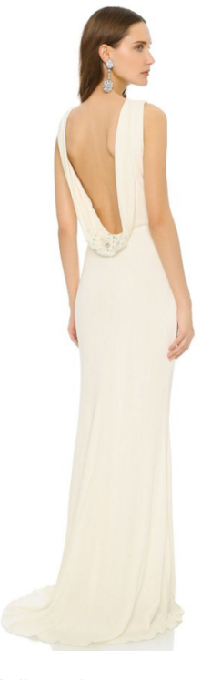 Badgley Mischka Cowl Back Gown Ivory Winter White-Fall Christmas Party Trends 2015-The Want List-Fashion Needs Jesus