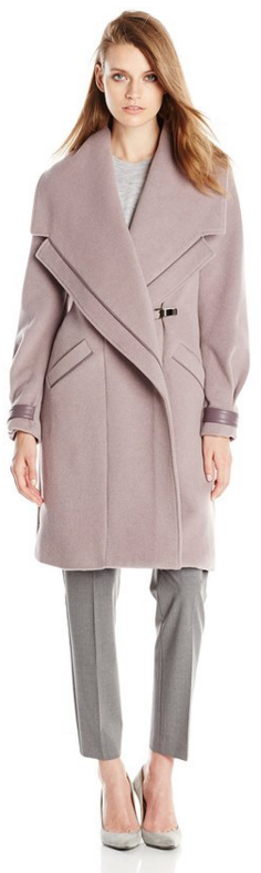 Badgley Mischka Lavender Wool Coat w: Leather- Fall Winter Christmas Party 2015 Trends-The Want List-Fashion Needs Jesus