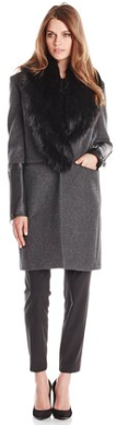 BCBGMAXAZRIA Women's Wool-Blend Coat with Faux-Fur Trim - Fall Winter 2015- The Want List- Fashion Needs Jesus