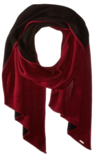 Calvin Klein Double-Faced Angled Edge Scarf red black- Fashion Needs Jesus-The Want List -Fall winter gift trends 2015