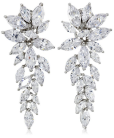 Charles Winston, Silver, crystal Elegant Drop Earring-Fall Winter Christmas Party Trends 2015-Fashion Needs Jesus