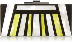 Halston Heritage Rectangular Box Minaudiere Evening Bag Neon Pearl and Black- Geometric Fall Winter 2015 Trends-The Want List-Fashion Needs Jesus