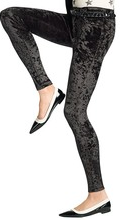 Hue Womens Crushed Velvet Leggings Black - Fall Winter Christmas 2015 NYC trends-The Want List- Fashion Needs jesus