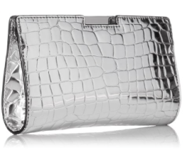 Milly Silver Metallic Clutch-The Want List- Fashion Needs Jesus