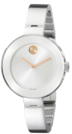Movado Women's Silver polished watch w:gold luxury gift guide 2015-Fashion Needs Jesus-The Want List