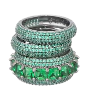 nOir Jewelry Miranda Stackable Ring Trio green emerald Fall Holiday 2015- The Want List- Fashion Needs Jesus