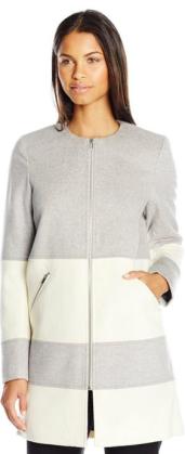 Parker Women's Hurley Colorblock collarless Coat