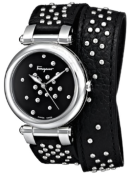 Salvatore Ferragamo Women's FI2100013 IDILLIO Analog Display Quartz Black Leather with studs Watch Fall Winter Christmas 2015 NYC Trends- The Want List-Fashion Needs Jesus