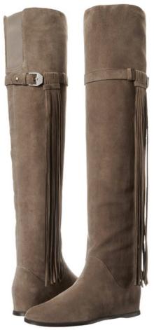 Stuart Weitzman Women's Troubadour Tall Boot- Suede neutral fringe- Fall Winter Christmas 2015 Trends-The Want List-Fashion Needs Jesus