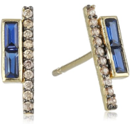 Tai gold plated pave earrings blue - The Want List- Fashion Needs Jesuss