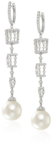 Tara Pearls %22Carousel%22 18k White Gold, White South Sea Pearl Diamond Drop Earrings Fall Winter Christmas Party 2015 Trends-Fashion Needs Jesus-The Want List