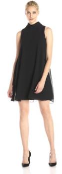 Vince Camuto Women's Sleeveless Mock Turtleneck Flyaway Dress Black Fall Holiday 2015- The Want List-Fashion Needs Jesus